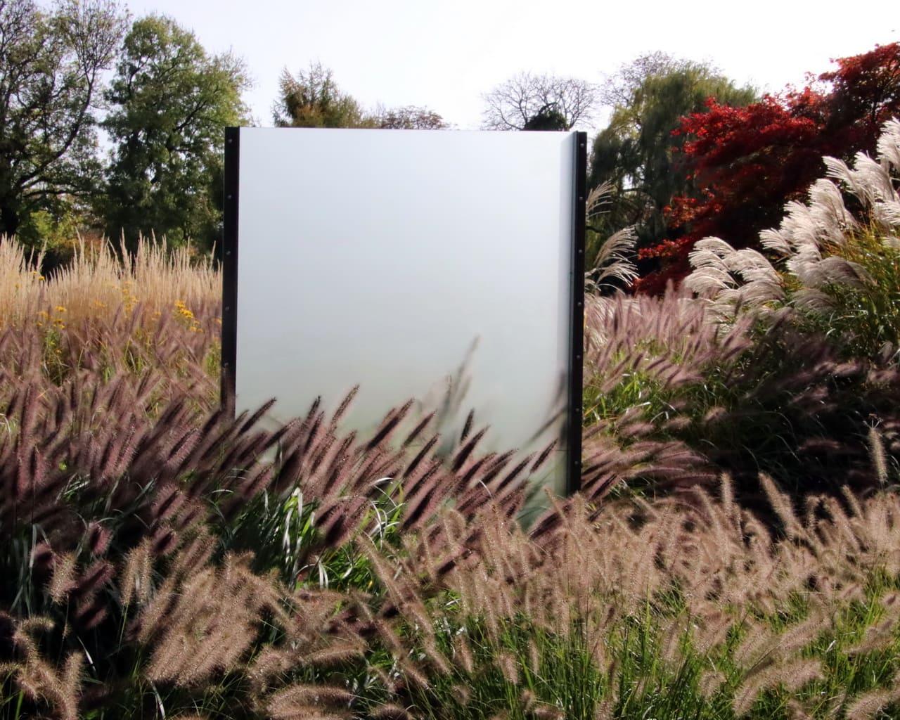 Gräsergarten im ega Park, Planung Petra Pelz 2014, Schattenspiele durch Plexiglaswände - Idee: Büro Ihle Weimar