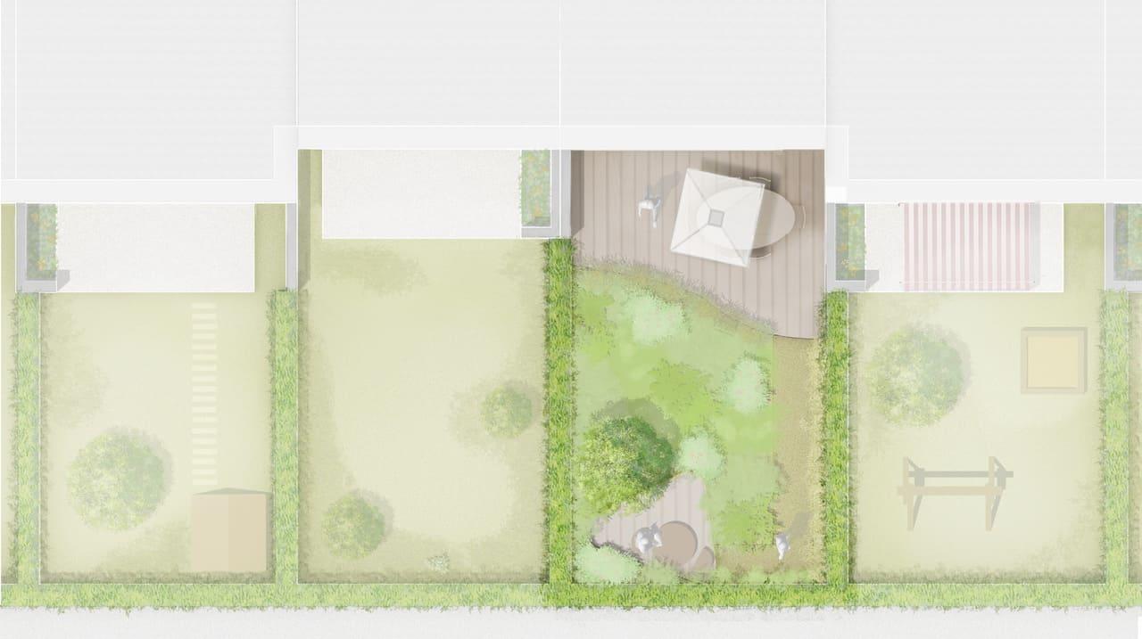 Garten Idee - Bepflanzung Variante 2, Zeichnung Nele Teichmann
